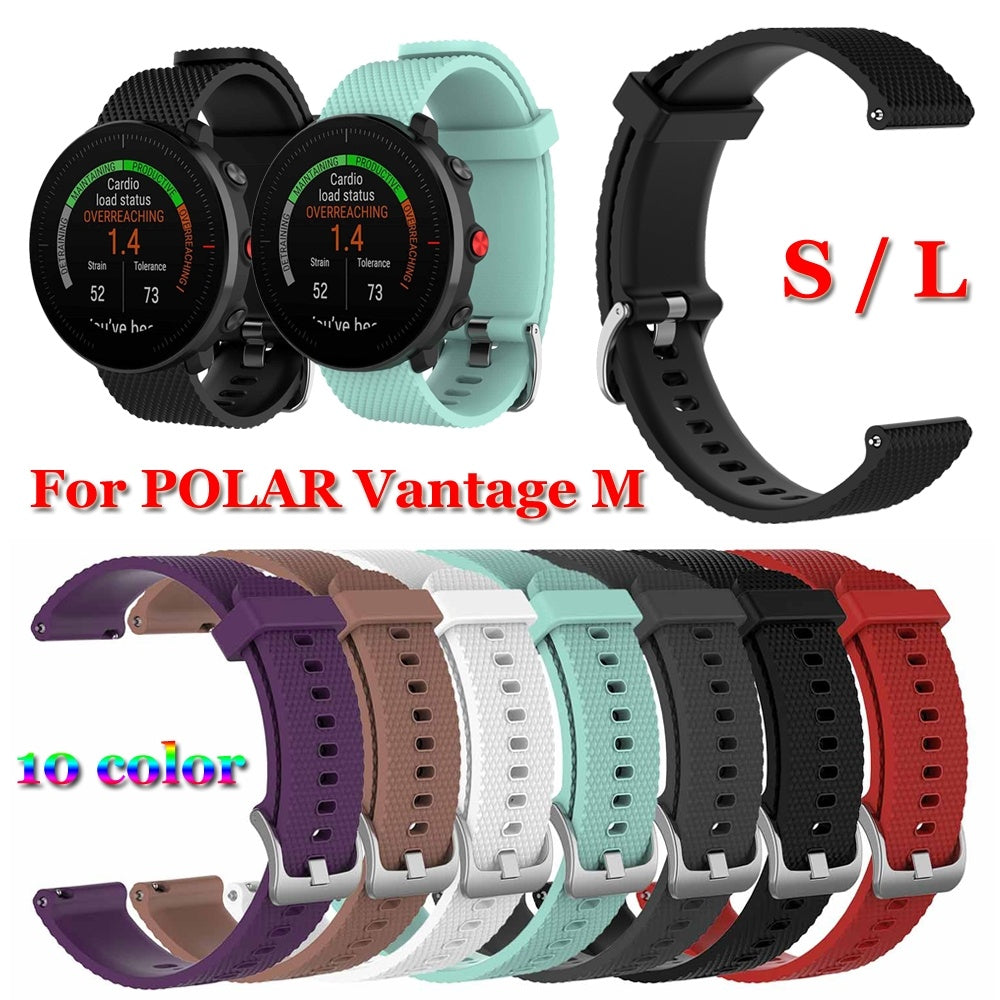 New Sports Smart Watch Soft Bracelet Wristbands Silicone Watch Band 22mm Strap