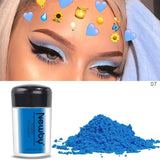 12 Colors Neon Powder Eyeshadow Pigment Matte Mineral Nail Powder Cosmetics Make Up Shimmer Shining Eye Shadow
