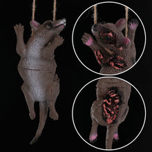 Load image into Gallery viewer, 1PC Horrible Halloween Hanging Props Party Scary Decoration Haunted House Decor Horror Animal Head Simulation Mouse Bat Spider Pig