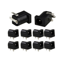 Load image into Gallery viewer, Black DC  PCB  Connector 5.5*2.1 mm 2.1 Socket Power Jack Jack Plug Electrical Plugs