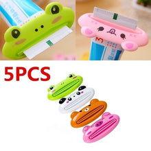 Load image into Gallery viewer, 5PCS Cute Cartoon Bathroom Tube Rolling Holder Easy Squeezer Toothpaste Dispenser ( Color Random )