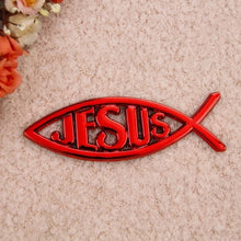 Load image into Gallery viewer, New Christian Gifts Electroplating Jesus Fish Stickers Car Stickers Stereo Waterproof Oilproof Car Stickers