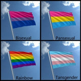 Love Is Freedom Colorful Pride Flags Creative LQBTQ Rainbow Love Flags Bisexua Pansexual Tansgender Banners