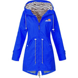 Ellesse Women Printing Waterproof Jacket Casual Long Sleeve Waterproof Raincoat Hiking Coat Running Coat(S-5XL)