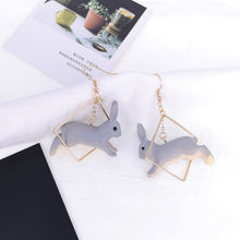 Load image into Gallery viewer, Women Lovely Rabbit Animal Geometric Square Drop Dangle Earrings Jewelry Gift Goodthink