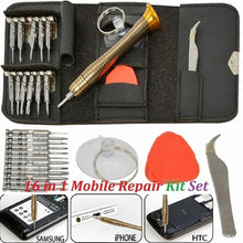 Load image into Gallery viewer, Mobile Phone 16 in 1 Repair Tool Kit Screwdriver Set for iPhone iPad Samsung