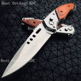 BEST OUTDOOR EDC !!Military OTF Spring Assisted Fast Open Knife Pocket Rescue Tactical Hunting Fishing Knives Wilderness Combat Dagger Camping Survival Tools