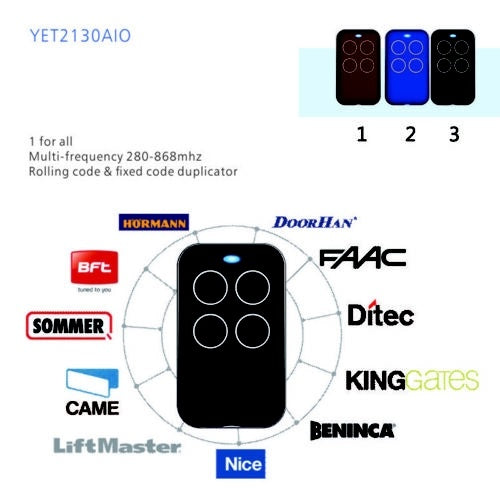 Fixed Rolling Code Garage Remote Control Duplicator Frequency 300-868MHz Cloning Remote Control Door Remote Control Duplicator