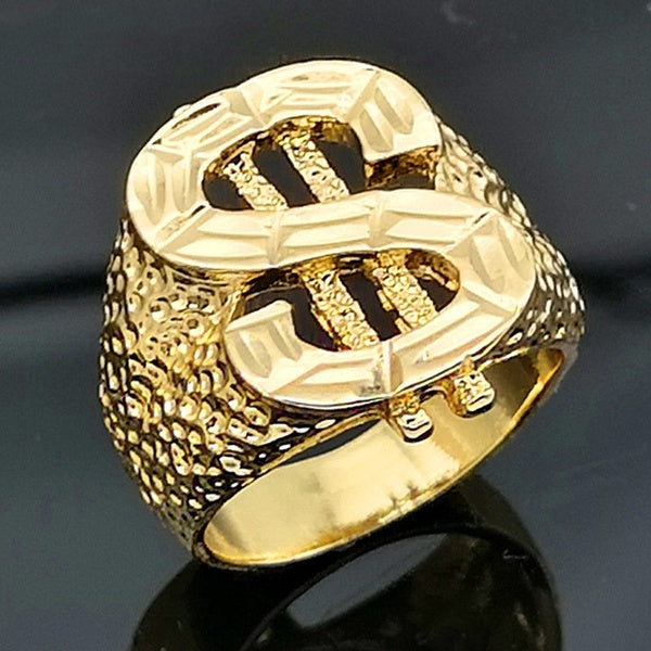 Platinum 18k Gold Men's Domineering, Hip Hop Creative Gold Jewelry Accessories WD007180000#4