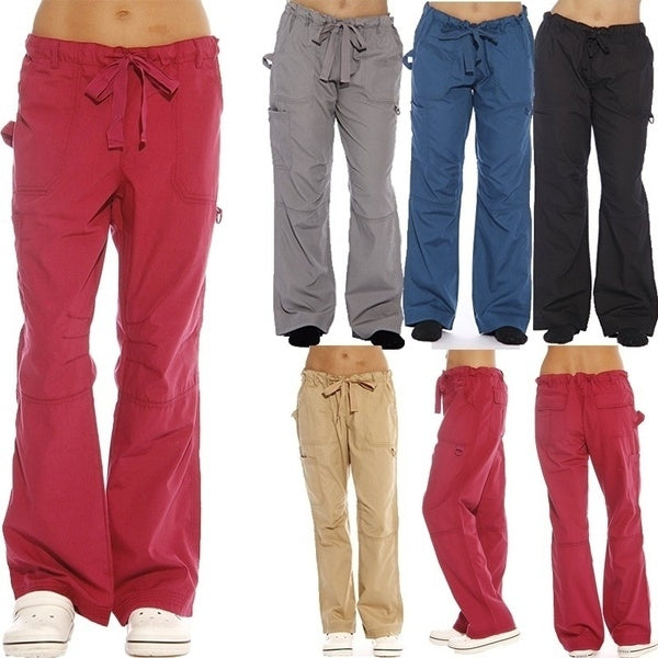 Ladies Fashion Summer Utility Playsuit Scrub Pants Cargo Pants Casual Work Out Long Trouser
