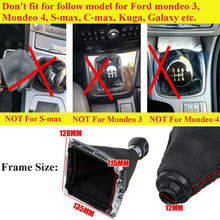 Load image into Gallery viewer, 5 Speed MT Gear Stick Shift ABS Knob with PU Leather Dust Boot Cover For Ford Focus 2005-2012 MK2 2005-2008