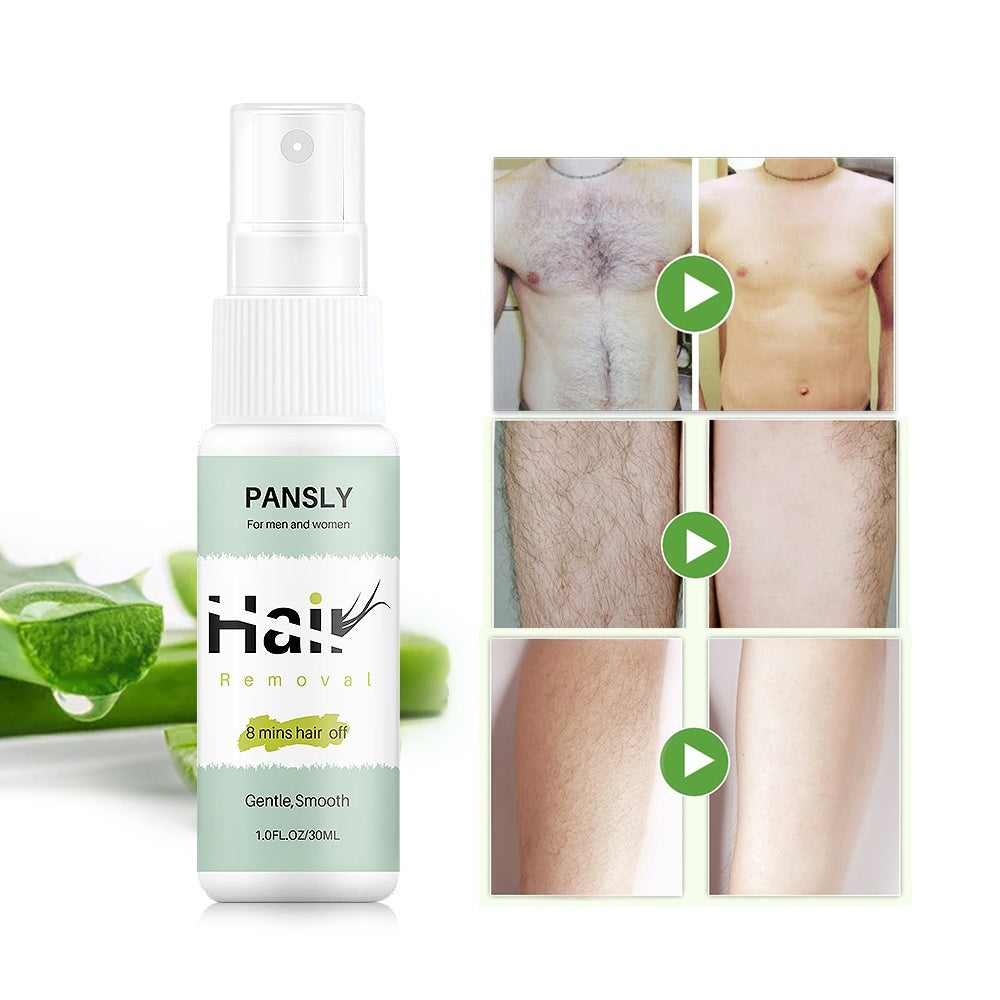 New Powerful Permanent Hair Removal Spray Rejects Hair Regeneration Hair Growth Inhibitors Mild Moisturizing Unisex