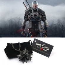 Load image into Gallery viewer, Witcher III Pendant Medallion Wizard Wolf Wild Hunt 3 Figure Game Alloy Necklace