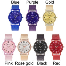 Load image into Gallery viewer, Fashion Quartz Watch Men Women Soft Mesh Watchband Casual Wristwatch for Female