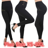 Women's High Waist Stovepipe Weight Loss Hip Hip Pants Shaping Leggings Shaping Pants Plus Size XS-8XL
