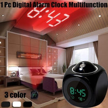 Load image into Gallery viewer, Digital Alarm Clock Multifunction With Voice Talking LED Projection Temperature