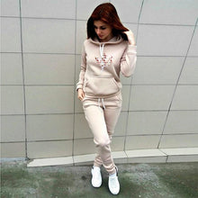 Load image into Gallery viewer, Women Tracksuit Pullover Hoodie and Pant Sets for Women Jogging Sweatsuit