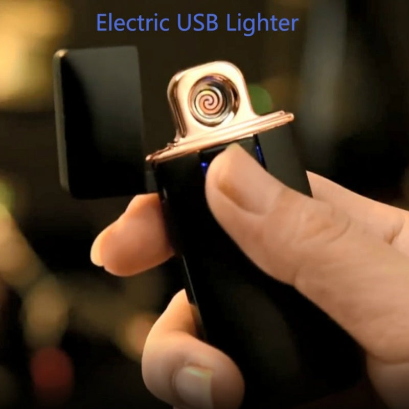 Portable Electric USB Lighter Tobacco Cigarette Charging Lighter Outdoor Windproof Lighter