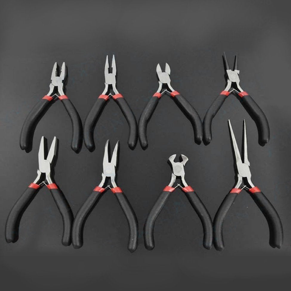 New Jewellery Making Beading Mini Pliers Tools Kit Set Round Flat Long Nose