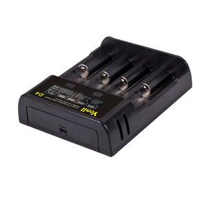 Smart Battery Charger 4 Slot For 18650 21700 26650 Lithium AA AAA Nimh Battery