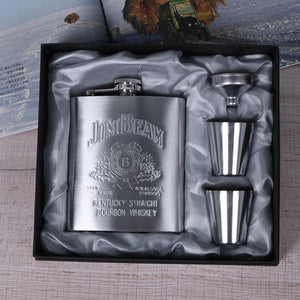 Portable Stainless Steel 6/7/8oz Hip Flask Flagon Whiskey Wine Pot Bottle Gift