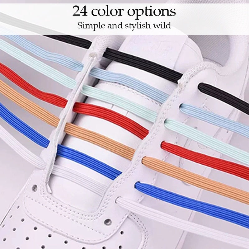 Fashion Magnetic lazelaces Elastic No Tie Shoe Laces Kids Adult Unisex Flat Sneakers Shoelace Quick Lazy Laces