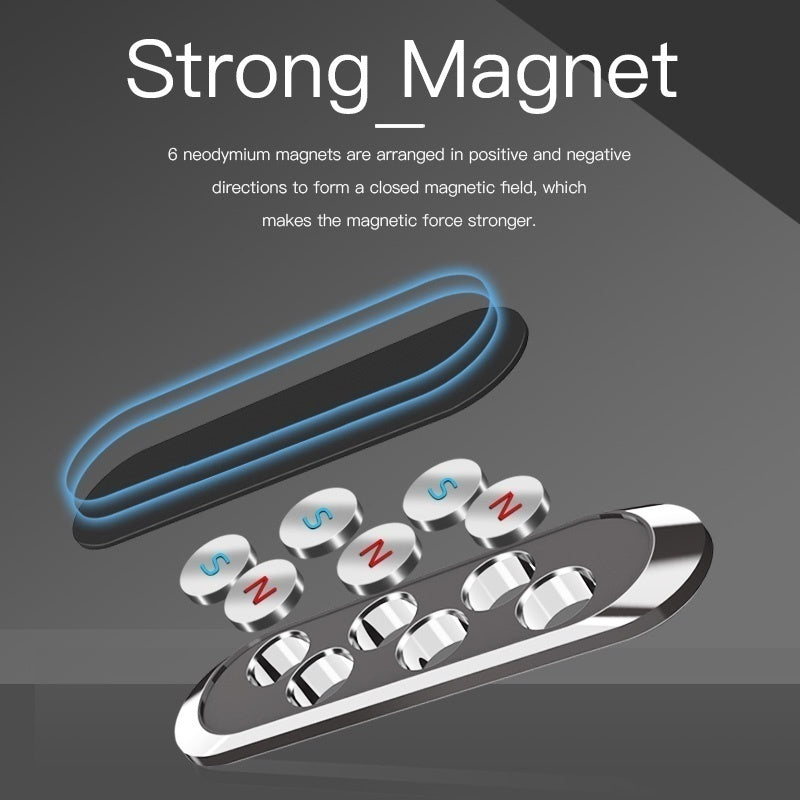 Strip Shape Magnetic Car Phone Holder Stand For iPhone Samsung Xiaomi wall metal Magnet GPS Car Mount Dashboard