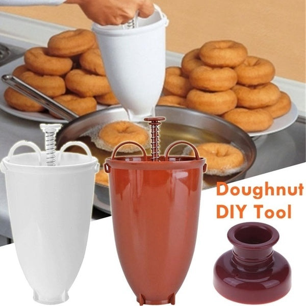 Creative DIY Doughnut Maker Dispenser Plastic Donut Making Tool Artifacts Kitchen Desserts Gadgets