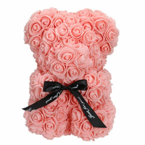Romantic Valentine's DayCreative Eternal Flower Rose Bear Christmas Gift Rose Bear Hug Bear 1pcs