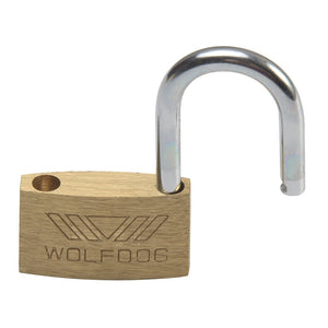 1x Wolf Dog Copper Padlock Wolf Head Brass Lock Small Locks Door Locks Not Rust Lock Core with 3 keys