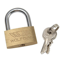 Load image into Gallery viewer, 1x Wolf Dog Copper Padlock Wolf Head Brass Lock Small Locks Door Locks Not Rust Lock Core with 3 keys