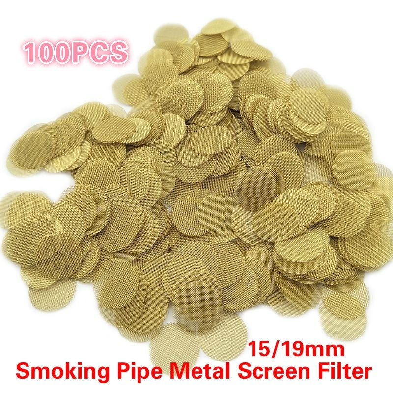 Fashion 100 Pieces Smoking Screens Pipe Screen Filters 15/19mm