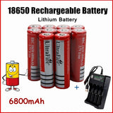 100% New Ultrafire Battery 18650 Rechargeable Lithium Battery 3.7V 6800mAh Large Capacity Li-ion Battery Flashlight Batteries 2-10Pcs