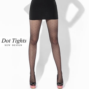 Female Vintage Women Small Dot Faux Tattoo Stockings Polka Dot Tights Stockings Hosiery Pantyhose
