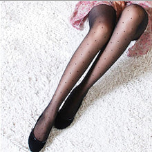 Load image into Gallery viewer, Female Vintage Women Small Dot Faux Tattoo Stockings Polka Dot Tights Stockings Hosiery Pantyhose