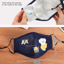 Load image into Gallery viewer, 1Pcs Cotton Face Mouth Mask For Children Kids Cartoon Animal PM2.5 Anti Dust Pollution Mask