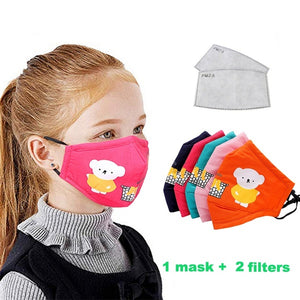 1Pcs Cotton Face Mouth Mask For Children Kids Cartoon Animal PM2.5 Anti Dust Pollution Mask