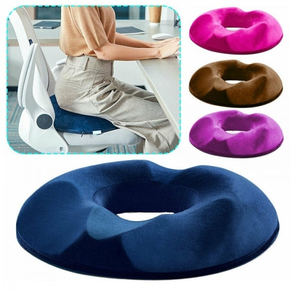 Orthopaedic Seat Cushion Tail Bone Coccyx Pain Relief Memory Foam Donut Pillow