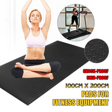 Load image into Gallery viewer, 79'x40' Black EVA Exercise Equipment Mat For Gym Treadmill Bike Protect Floor