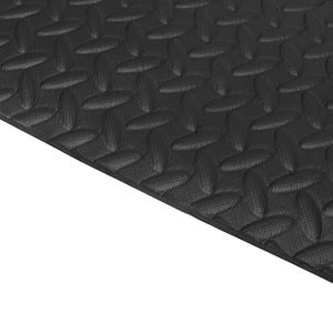 79'x40' Black EVA Exercise Equipment Mat For Gym Treadmill Bike Protect Floor