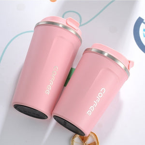 2020 Coffee Mug Vacuum Insulated Tea Cup Tumbler Stainless Steel with Screw on Lid Leak Proof Keep Hot Cold