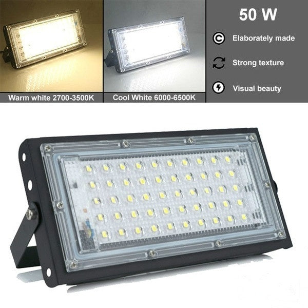 2020New!! 50W Led Flood Light AC 110V 220V Outdoor Floodlight Spotlight IP65 Waterproof LED Street Lamp Landscape Lighting