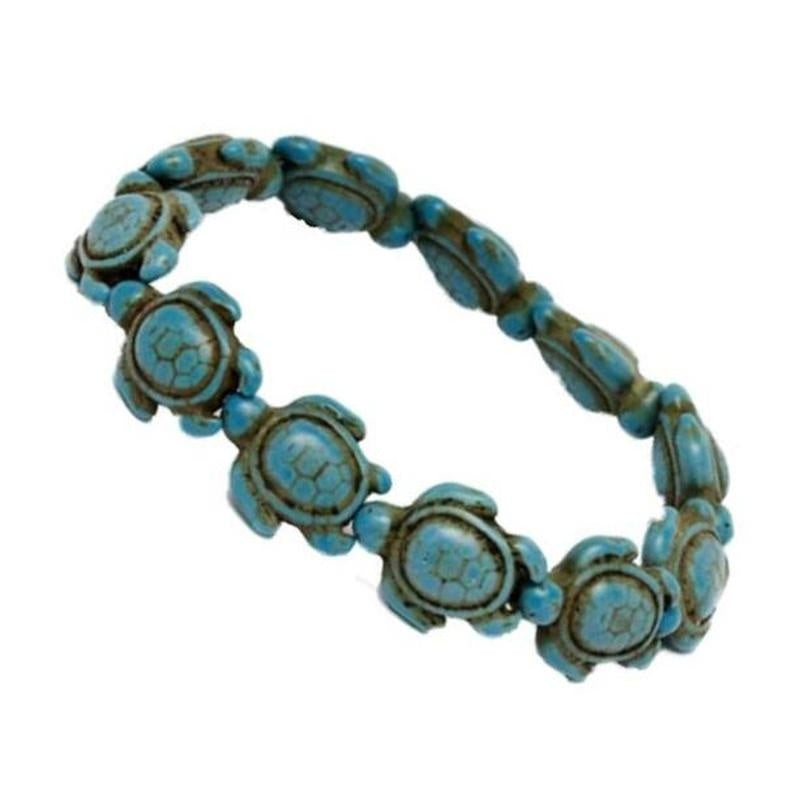 Genuine Handmade Turquoise Sea Turtles Bracelet