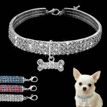 Load image into Gallery viewer, Pet Necklace Pet Collar Pet Products Dog Cat Accessories Dog Collar Puppy Collar Diamond Collar
