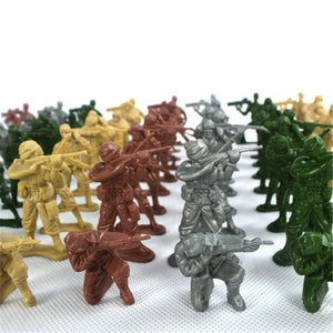 100pcs Military Action Soldiers Army Figures Toys Collection Intelligence Educational Toys Gift