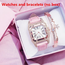Load image into Gallery viewer, Fashion Ladies Watch Bracelet Set Casual Leather Quartz Watch (No Box)