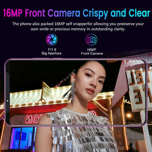 2019 New Mate33 Pro Smartphone Face ID Unlock Mobilephone 4G 6.1 Inch HD Big Screen Dual SIM Cards Support T Card (8GB RAM&128GB ROM + Free Gift Screen Protector and Phone Case)