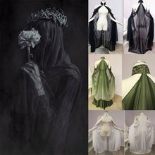 Load image into Gallery viewer, 2020 NEW Fashion Sexy Women Elven Cape Pixie Fariy Cape Casual Sleeping Wear Chiffon Beaded Collar Cape Women Cosplay Cloak