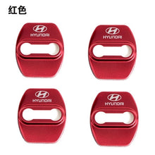 Load image into Gallery viewer, 4pcs/lot Car Logo Styling Stainless Steel Door Lock Striker Cover Door Striker Cover for Hyundai Verna Sonata ix35 Avante Elantra TUCSON Veloster Veracruz  AzeraAccessories Car Styling