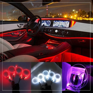 Wireless Mobile Phone App Control Car GRB Light Line Atmosphere Lamp